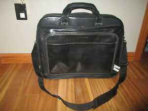 0ef91b15a Image is loading Samsonite-Leather-Expandable-Business-Case-Black-Leather