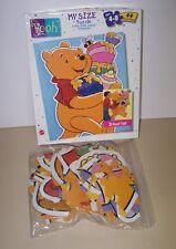 1998 Jumbo Mattel Winnie The Pooh Bear My Size 3' Floor Disney Puzzle