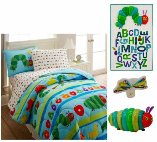 Eric Carle The Very Hungry Caterpillar Bedroom Bundle, 5 pcs, Twin Size