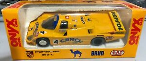 Onyx-PORSCHE-962-C-Brun-CAMEL-nella-sua-scatola-originale-cammello-marchio-sigarette