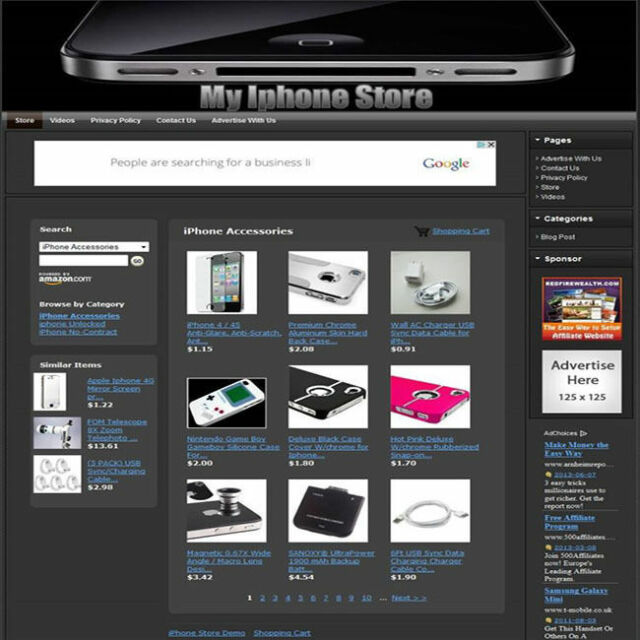 IPHONE STORE - Turnkey Affiliate Website + Free Domain Name + Free Hosting!