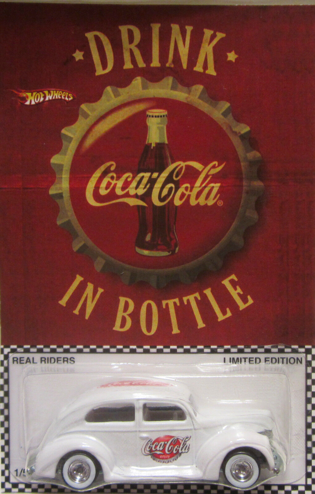 Hot Wheels CUSTOM FAT FENDERED '40  Coca-Cola Real Riders Limited 1 5 Made