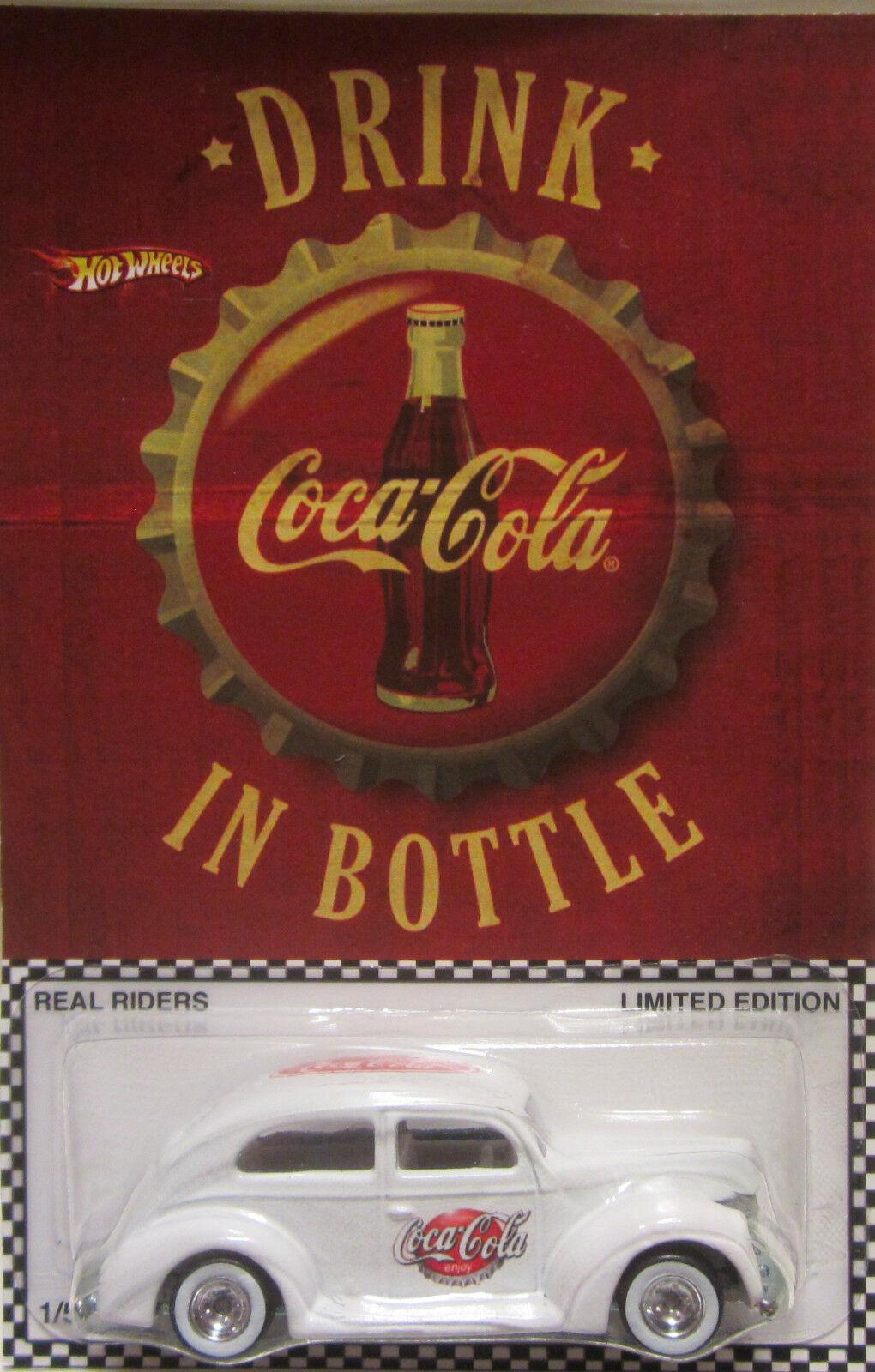 Hot Wheels Personnalisé Graisse Abaissée '40 Coca-Cola Real Riders Limité 1 5