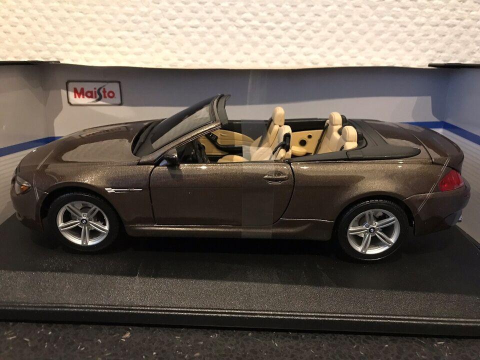 Modelbil, BMW M6 Cabrio, skala 1:18
