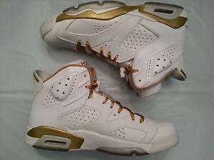innovative design b8bb6 b1a18 Image is loading Nike-Air-Jordan-6-VI-Retro-Black-Gold-