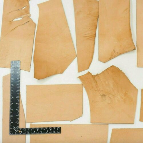 ELW 4LB Vegetable Tan Tooling Cowhide Leather Scraps HEAVY WEIGHT 7oz-12oz