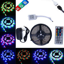 5M RGB 3528 LED Strip Light 300leds + 44key IR Remote Control+ 12V Power Supply