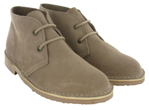 Roamers 2 Eye Desert Boots Womens Real Suede Leather L777 Round Toe UK3-8