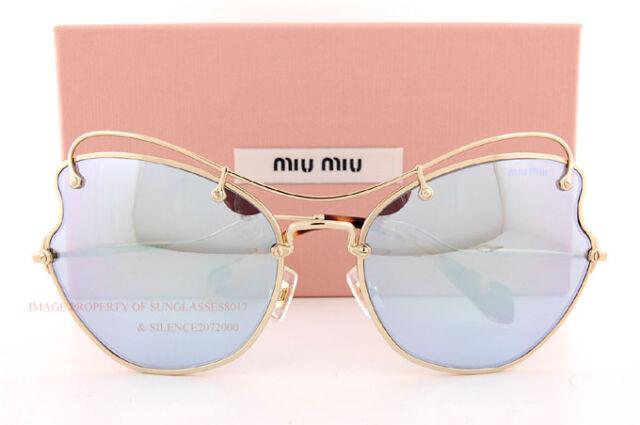 d435b6d0d7067 MIU MIU Sunglasses SMU 56r Zvn-5q0 Pale Gold   Mirror Blue 61 Mm Mu56rs