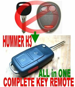 ALin1-NEW-FLIP-KEY-REMOTE-FOR-HUMMER-H3-H3T-ALARM-CLICKER-BEEPER-IGNITION-FOB