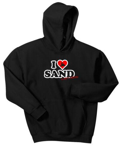 LOVE SAND DUNES JUST RIDE HOODIE SWEAT SHIRT GLAMIS ATV QUAD BANSHEE