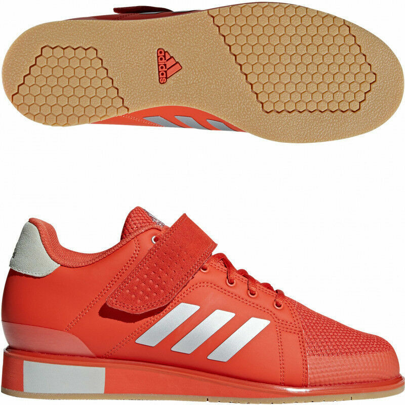 Adidas Power Perfect III Mens Weight Lifting schuhe Gym Trainers rot Amber