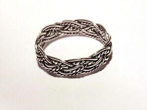 schmaler-Flechtring-Bandring-925-Sterling-Silber-Ring-Gr-49-57-15-6-18-1mm-Neu