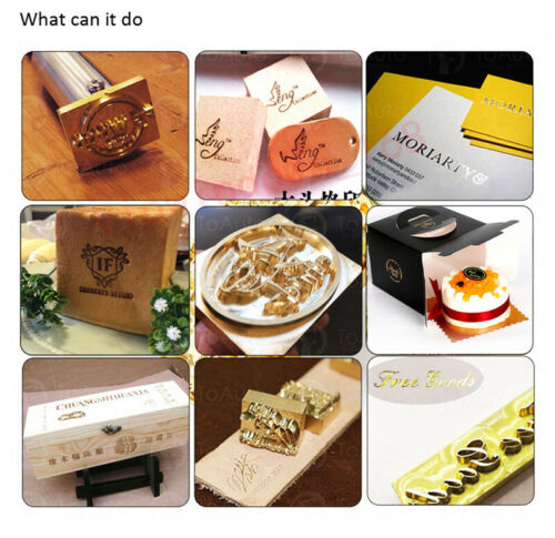 Customized Brass Mold Cold Pressing Copper Symbol DIY Stamping Embossing Machine