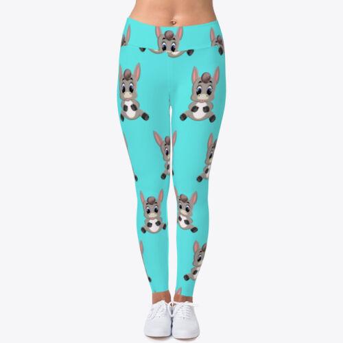 Cute Baby Donkey Animal Women/'s Print Fitness Stretch *Leggings* Yoga Pants