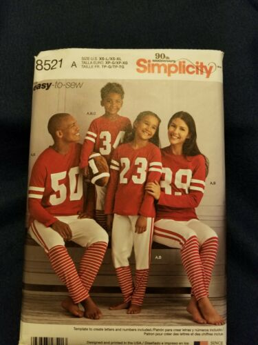 Child-Adults STUFFED FOOTBALL TOP Simplicity 8521 UNCUT Sewing Pattern PANTS