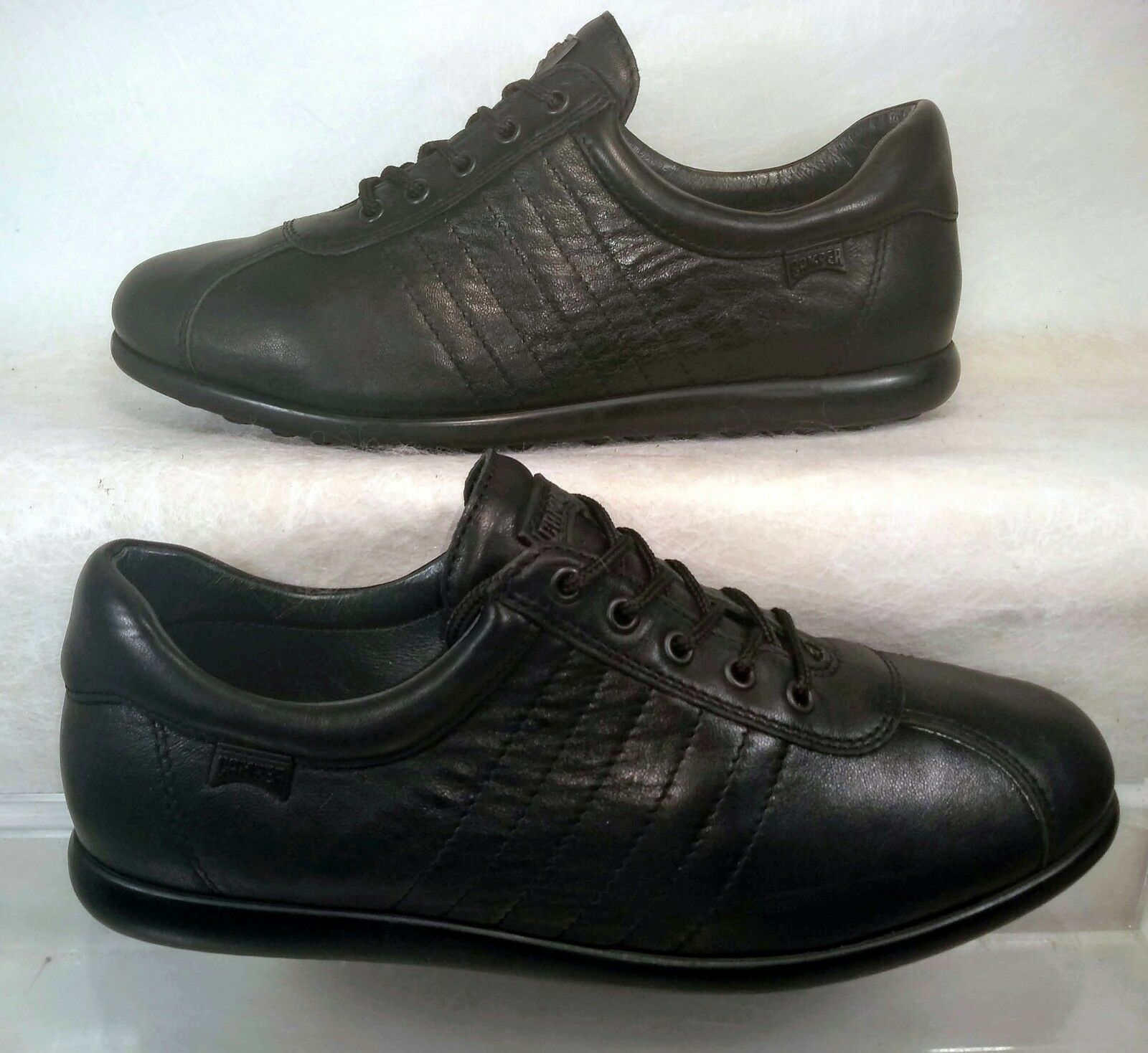 87866bab ... Camper Pelotas Ariel Casual Lace Up Up Up Black Sneakers Women US 10 40  2ce45f ...