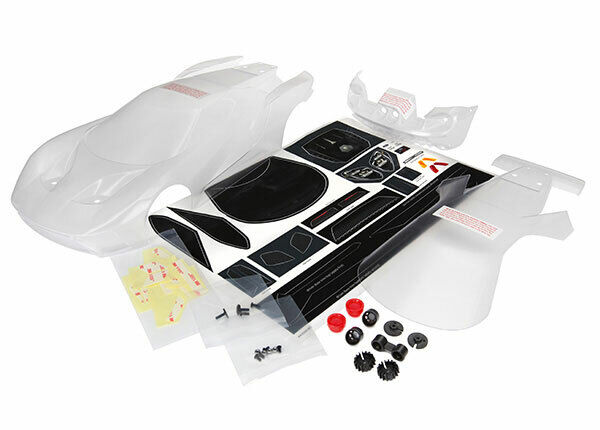Traxxas 8311 - Clear Body, Ford GT, Decals Ex Tips, Mounting Hardware