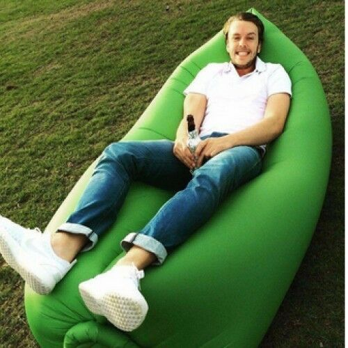 Fast Inflatable Air Bag Sofa Travel Camping Beach Lazy Lounger Sleeping Bed New