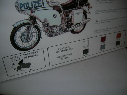Heller BMW R-60//5 Polizei Bausatz 1:8 Model Kit Motorrad Moto Art 52993