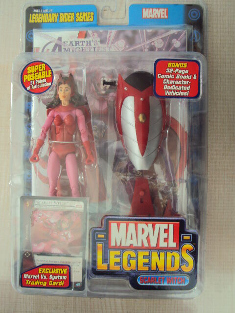 MARVEL LEGENDS LEGENDARY RIDER SERIES   SCARLET WITCH 2005 TOY BIZ AVENGERS