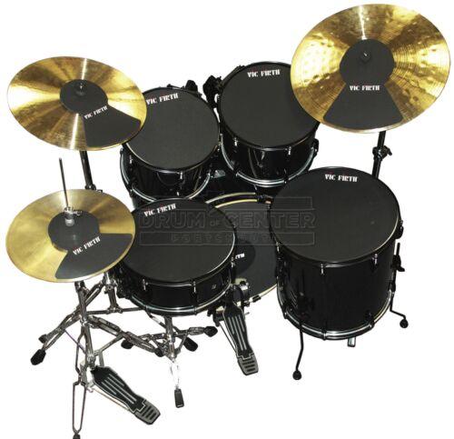 2 HH Cym 20 - MUTEPP5 12 14 14 Vic Firth Drum Mute Prepack 5-10