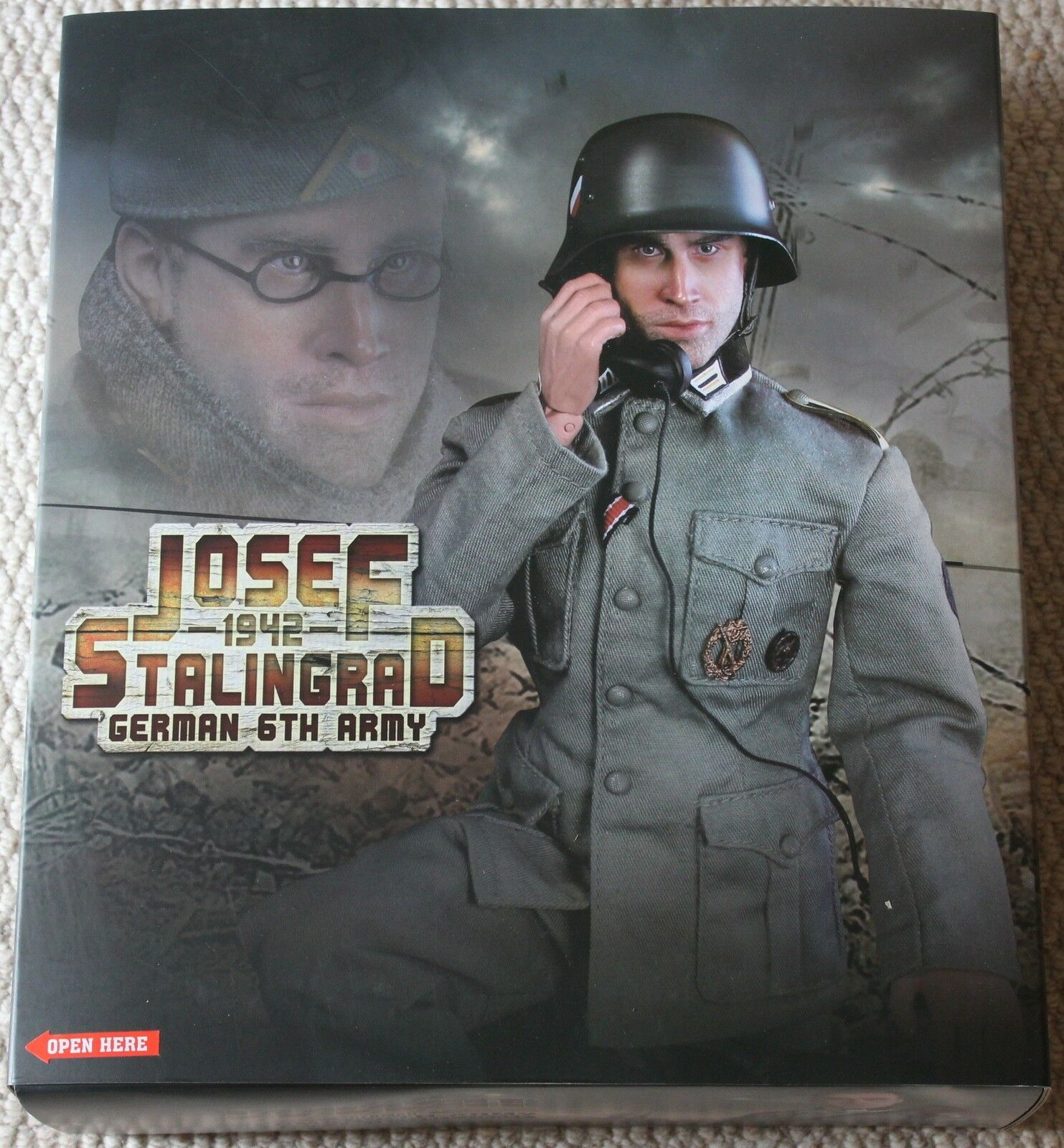 Did action figure german josef starlingrad 1 6 12'' boxed hot toy ww11 dragon