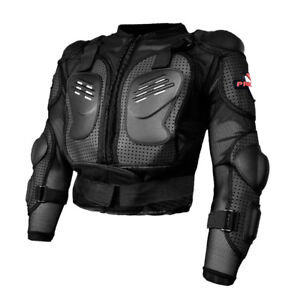 Veste-Protection-Moto-Sport-Gilet-Protecteur-Armure-Blouson-de-Motard-Noir