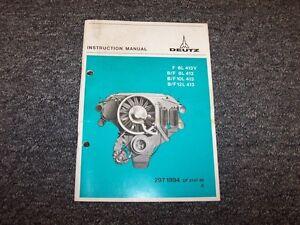 deutz f6l413v f8l413 f10l413 f12l413 engines owner operator rh ebay com Deutz Repair Manual Deutz Tractor Manuals