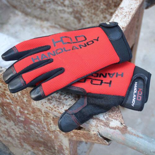 Mens Goatskin Leather Work Golves Garden Yard Construction Mechanics Work Gloves