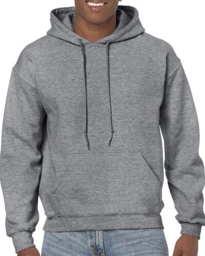 Graphite Heather Gildan Tinta Unita con Cappuccio Heavy Blend sweaterpullover Uomo Felpa con Cappuccio