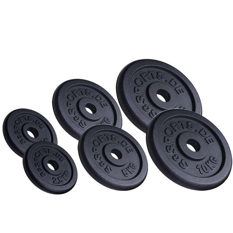 ScSPORTS® 35kg Hantelscheiben Set Guss 2 x 10 / 2 x 5 / 2 x 2,5 kg Gewichte 30mm