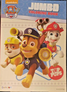 Details About Nickelodeon Paw Patrol Top Pups Jumbo Coloring Book 96 Pages W