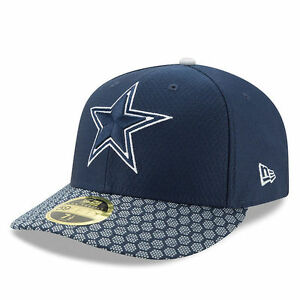 DALLAS COWBOYS NFL NEW ERA OFFICIAL 59FIFTY LOW PROFILE SIDELINE ... 8020fc5a0ce6