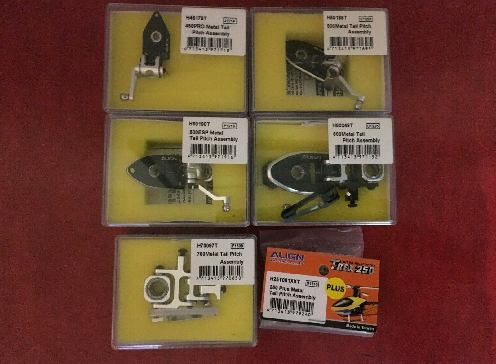 Align Trex Tail Pitch Assembley - Choice of models available - RC Heli Spares