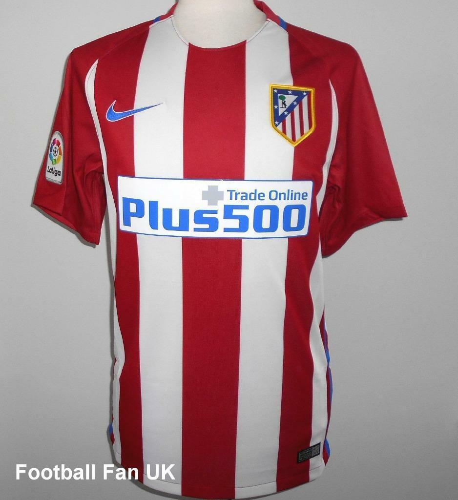 Atlético Madrid Nike Hogar Camiseta De Fútbol 2016-2017 Nueva  Camiseta De Fútbol Camiseta  de moda