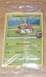 2x Pokemon Grookey on The Ball Futsal Football Promo Trading Card