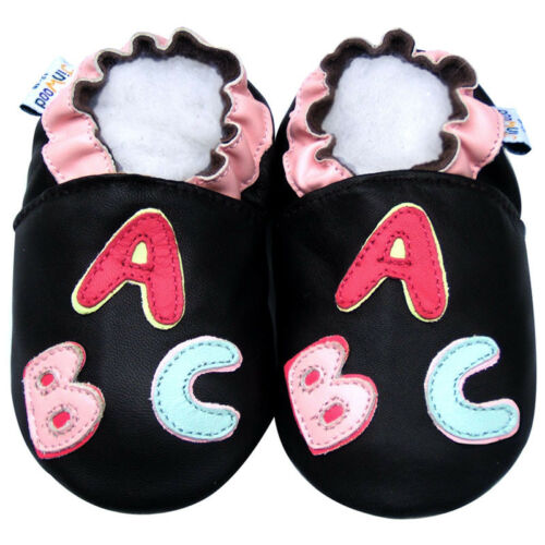 Jinwood Soft Sole Leather Baby Shoes Infant Children Kids Crib ABC Brown 30-36M
