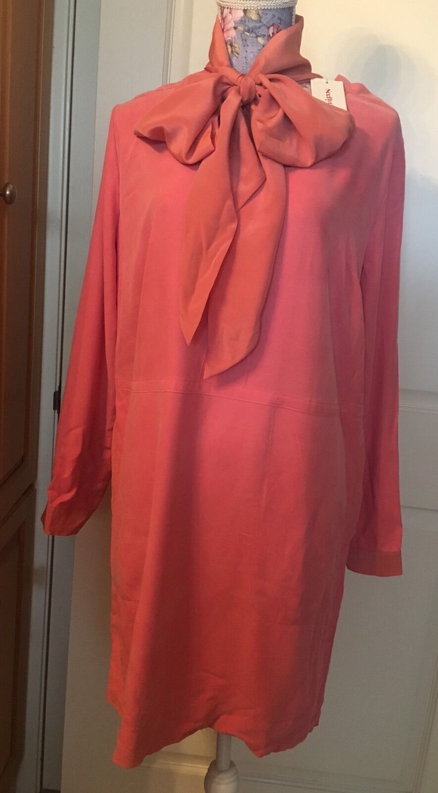 See by Chloe short dress Long Sleeves, size US 6(IT42), mauve pink color