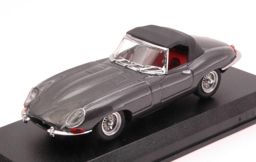 Venta en línea precio bajo descuento Jaguar E Spider Soft top 1961 1961 1961 Gunmetal 1 43 Model Best Models  Entrega rápida y envío gratis en todos los pedidos.