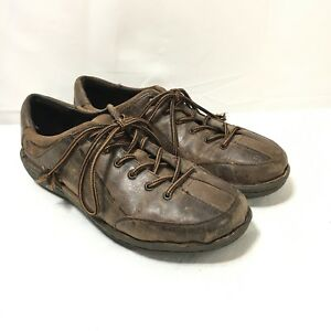 Born-Handcrafted-Womens-Size-8-5-40-Brown-Leather-Lace-Up-Oxford-Shoes