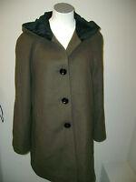 Forecaster Boston Velvet Hooded Brown Wool Coat $280