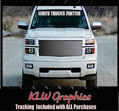 Turbo Diesel Trucks >> White Trucks Matter Banner Turbo Diesel Truck Crew Cab 1500 2500 Lift Kit Decal Ebay