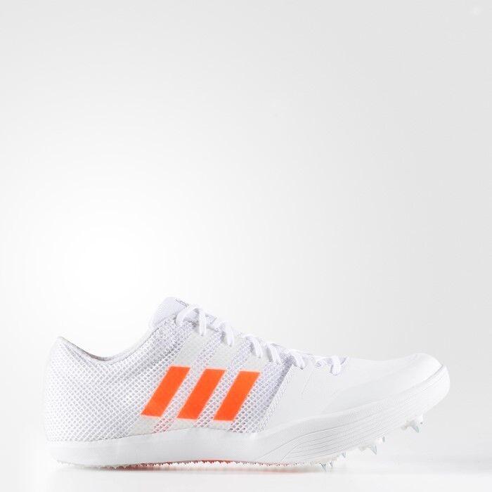 Adidas adizero lj salto in lungo spuntoni track & field bb4100 bianco arancio bb4100 field numero 10 384bb1