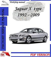 Jaguar X type 1992 - 2009 workshop repair manual ,catalog parts and more