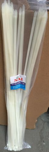 """25 pc Cable Zip Ties Wire Straps 600 mm 24/"""" Clear 175 lbs Heavy Duty Duct Straps"""