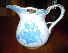 Herend Chinese Bouquet Blue ~ Cream Pitcher 1643 ~  Signed Vescey Tamas & Dated