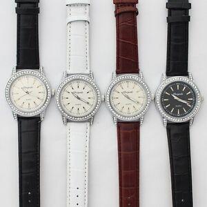 10pcs Wholesale Price Fashion Men Women Leather Luxury Dress Wristwatch U60M