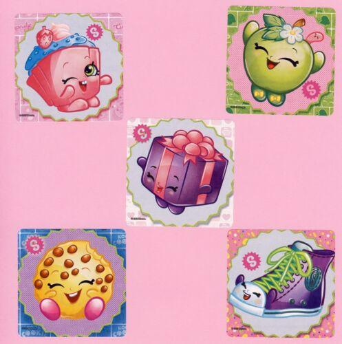 15 Shopkins Large Stickers Kookie Cookie Miss Pressy Apple Blossom