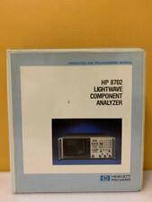 Hp 08702 90002 8702 Lightwave Component Analyzer Operating Programming Manual